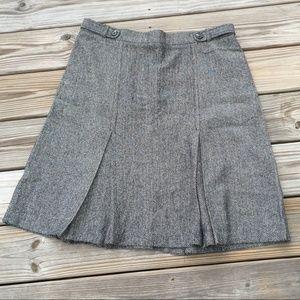 Sag Harbor Petite Chevron Tweed Career Skirt